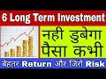 Best Long Term Investment, Top 6 Long term investment for Zero Risk and good return in Hindi/urdu