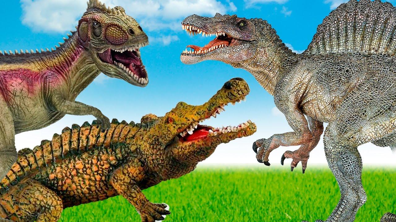 Dinosaurs - spinosaurus VS Sarcosuchus. Sarcosuchus Crocus ...Giganotosaurus Vs Spinosaurus