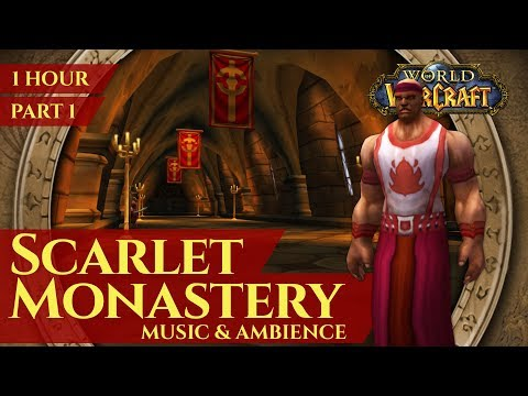 Vanilla Scarlet Monastery Part 1 - Music & Ambience (1 hour, 4K, World of Warcraft Classic)