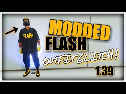 """GTA 5 ONLINE - MODDED """"FLASH"""" OUTFIT GLITCH! 1.39 (MODDED OUTFIT USING GLITCHES!) AFTER PATCH 1.39"""