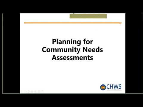 Introduction to Community Needs Assessment: Finding the Data, July 8, 2020