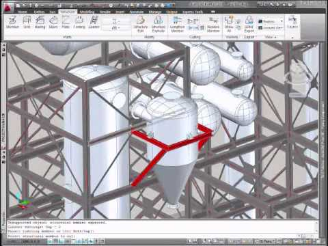 Autocad Plant 3D - Structural Steel Editing - Youtube