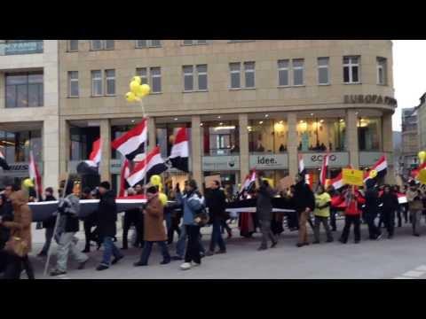 Egyptian Protest in Hamburg 25.01.2014(Brotherhood supporters)