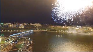 Чебоксары - салют в День Победы 2017 (съёмка с воздуха)
