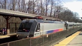 N.J. TRANSIT RAILFANNING MIDDLETOWN NEW JERSEY ON 3/10/13.....VIDEO #129