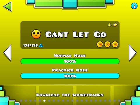 Geometry Dash Walkthrough - Level 6 (Cant Let Go) [ALL COINS]