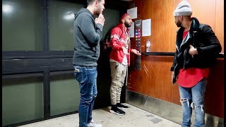 WE GOT STUCK IN AN ELEVATOR!!!! **they rescued us**