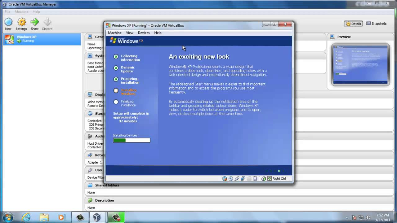 How to install Windows XP in Oracle VM Virtualbox