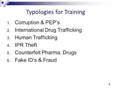 Anti-Money Laundering Typologies - 30 Minutes