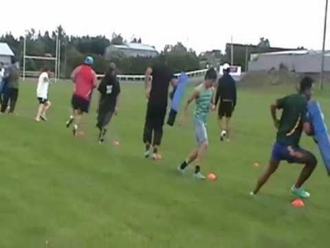 Ashburton Barbarians training with Ruben Wiki and T