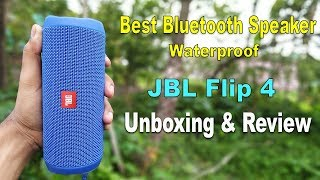 JBL Flip 4 Portable Wireless Speaker with Powerful Bass Unboxing , Review, Fast Look in Hindi