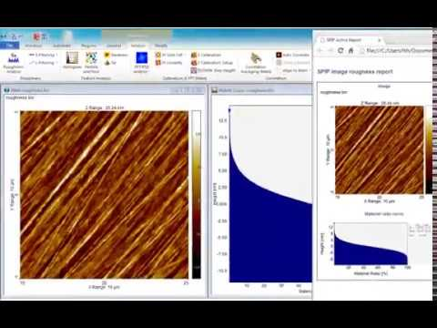 How to Measure Roughness in AFM and other topographic images by SPIP™