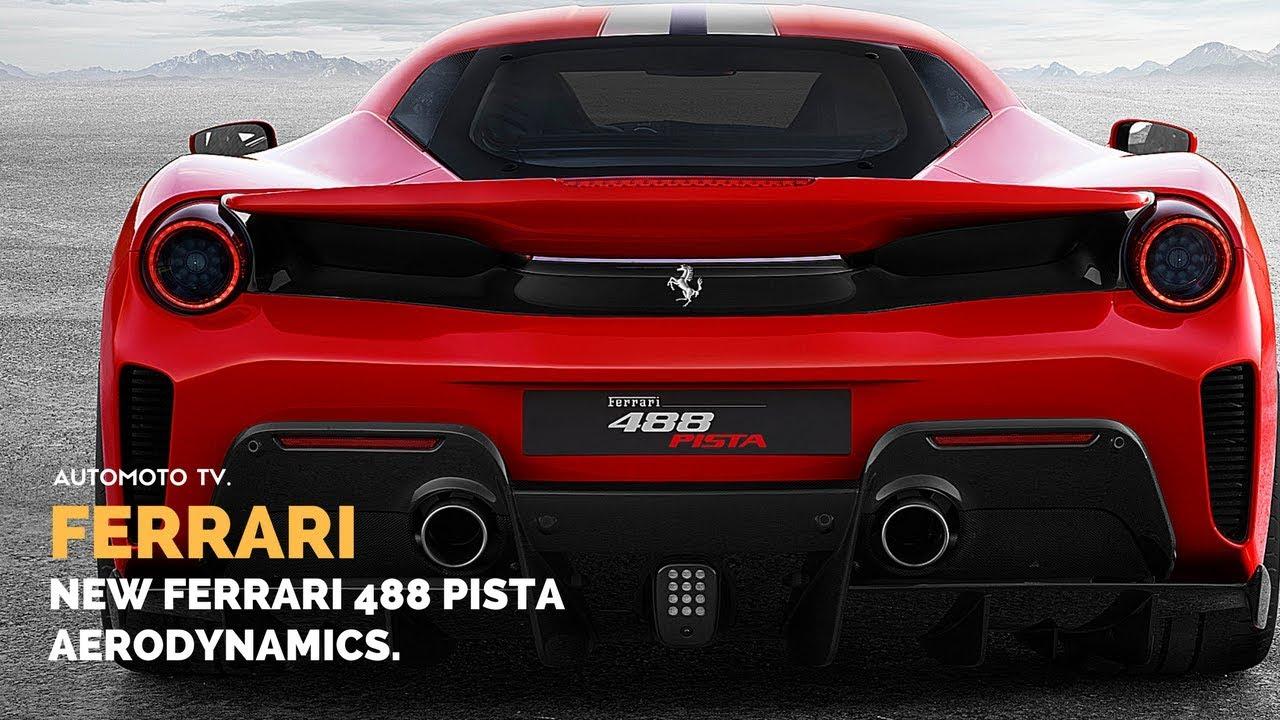 Ferrari 488 Pista Aerodynamics Efficiency Youtube