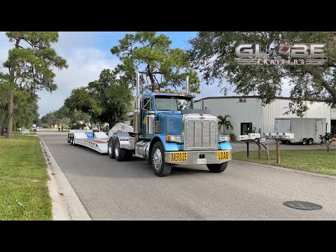 Globe Trailers 50 Ton Two-Tone Lowboy