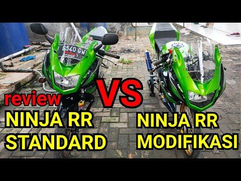 Ninja RR 150 standard VS  Ninja RR Modifikasi (review)#NINJARR