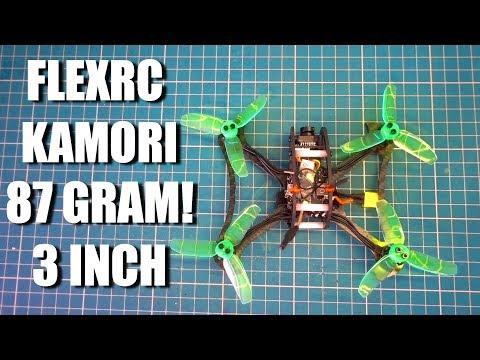 87 GRAM! 3 Inch Ultralight FlexRC Komori - Build - Setup - Fly!
