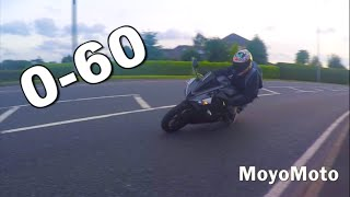 YZF-R125 2016 0-60MPH + TOP SPEED
