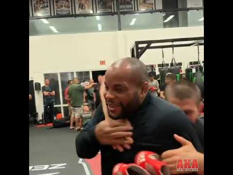 """Daniel Cormier Asks Khabib, """"Did You Beat Conor McGregor?"""" They Wrestle Together"""