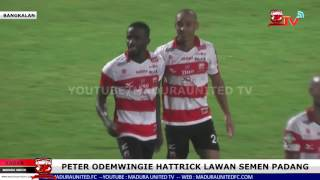 "Video Peter ""The Great"" Odemwingie Hattrick, Madura United 6 - 0 Semen Padang (Full Time) download MP3, 3GP, MP4, WEBM, AVI, FLV Oktober 2017"