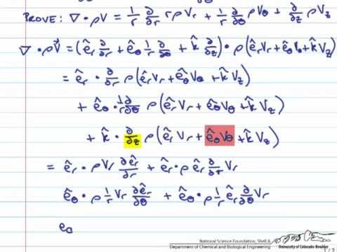 Deriving Continuity Equation in Cylindrical Coordinates