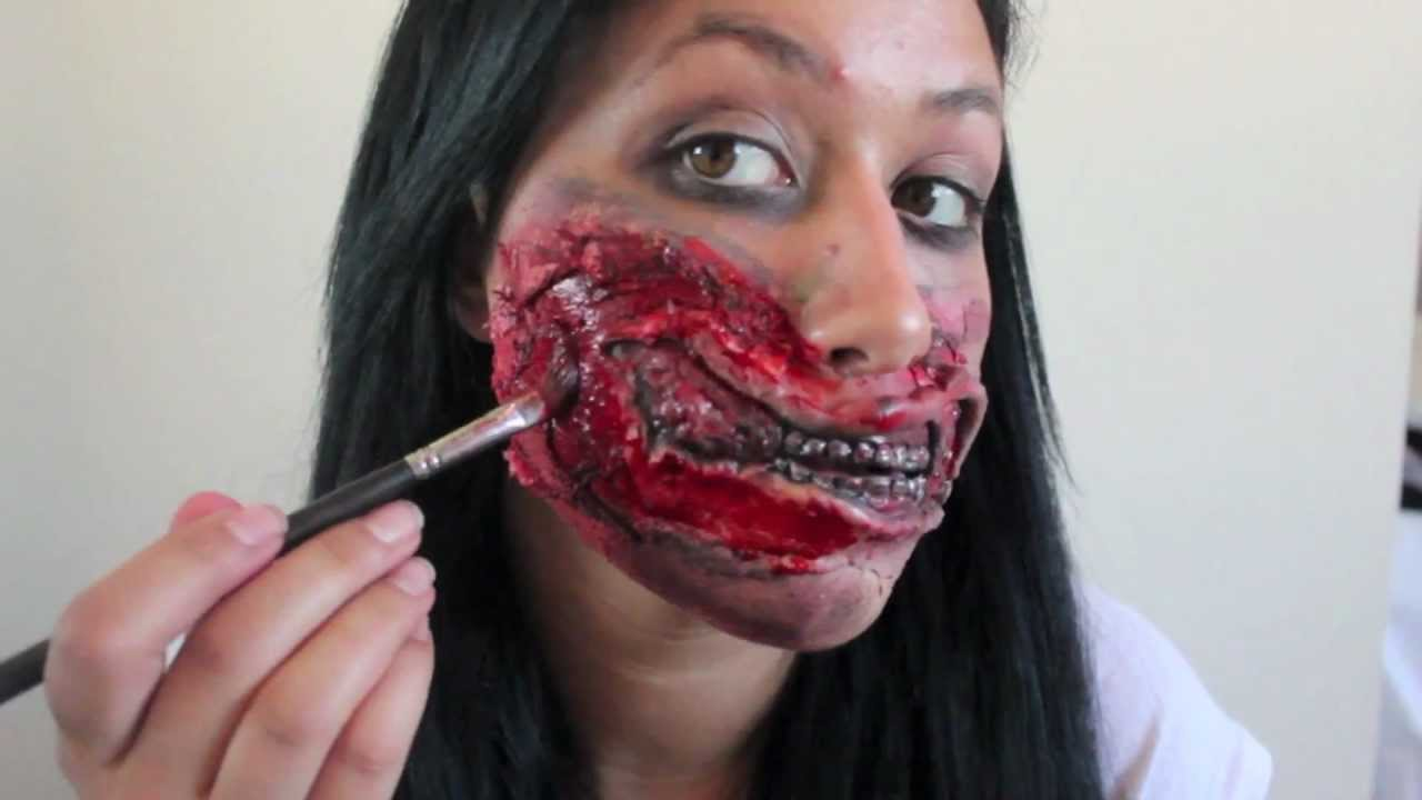 Zombie Mouth Halloween Makeup Tutorial -- The Walking Dead ...