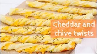 Cheddar and chive twists