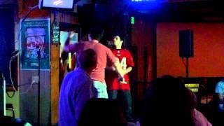 Karaoke singing of Chop Suey