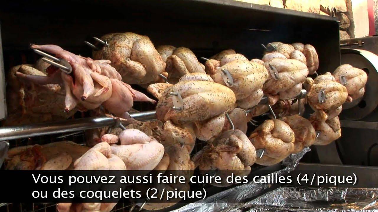 Rg feu de bois cuisson de poulets la broche youtube - Trepied pour feu de bois ...