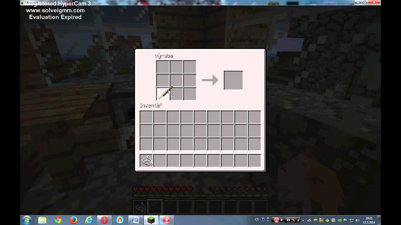 MINECRAFT - Jak si vyrobit prut - YouTube
