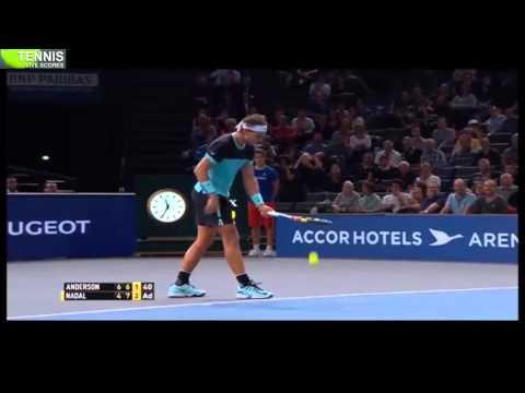 Paris Masters 2015: Rafael Nadal vs Kevin Anderson 3rd Round | Highlights 6/11/2015