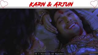 Karan and Arjun mashup || brother's love and fight || mahabharatham Vijay tv scenes ||
