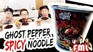 GHOST PEPPER SPICY CHICKEN NOODLE CHALLENGE - Food Mystery Live EP25