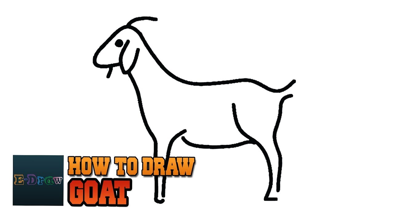 How To Draw A Goat Goat Easy Draw Tutorial For Kids A Simple Goat