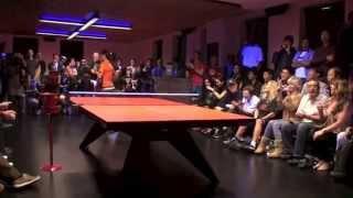 Timo Boll vs Erica Wu.