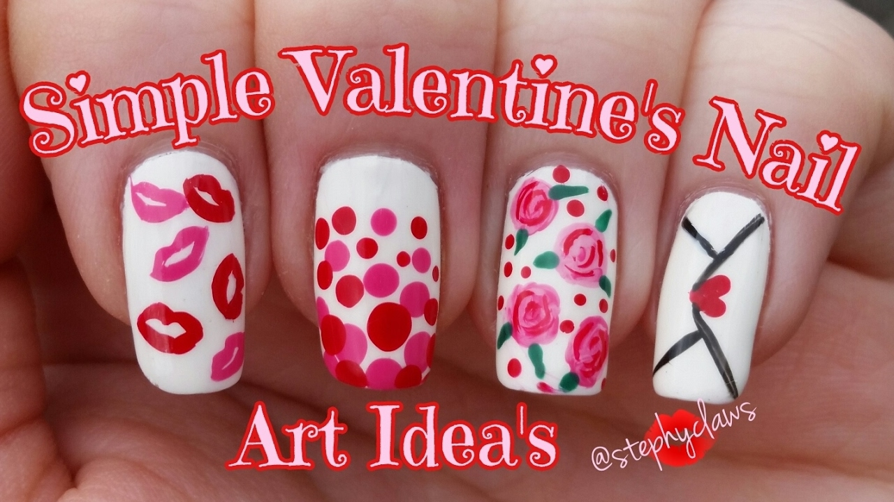 Simple Valentines Nail Art Ideas 5 Step By Step Nail Designs