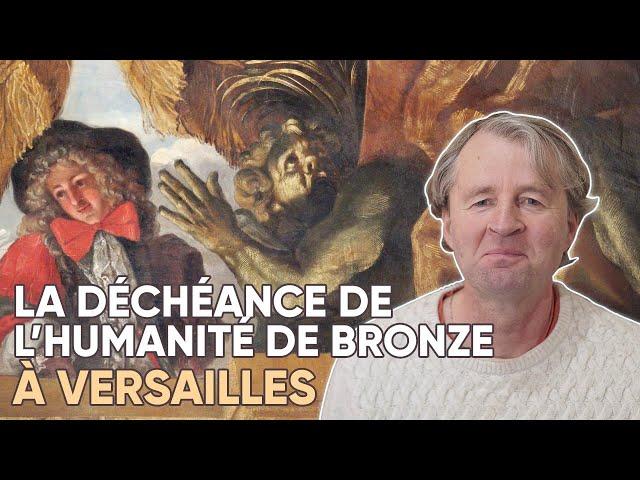 Château de Versailles-La déchéance de l'humanité de bronze.