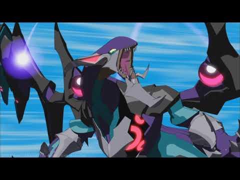 YU-GI-OH! ARC-V | Yuya summons the four Dimension Dragons | Eng Sub |