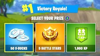 Fortnite Victory Royale! SELECT A PRIZE - V-Bucks, Battle Stars, or XP