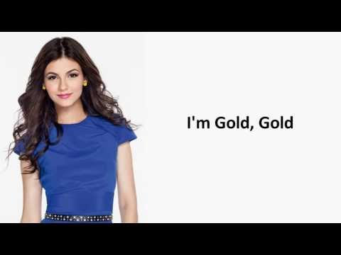 Gold - Victoria Justice - Lyrics On Screen