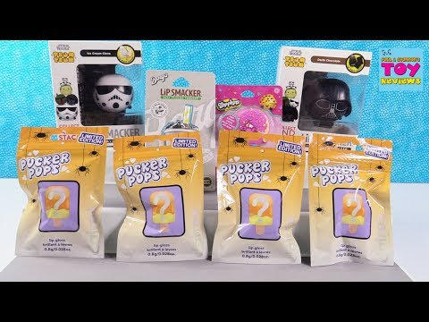 Halloween Limited Edition Pucker Pops Lip Smacker Gloss Palooza Opening | PSToyReviews