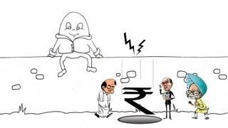 Rupee Fall Parody: When Rupee met Humpty Dumpty..