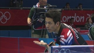 Joo Saehyuk (KOR) v Kim Hyok Bong (PRK) - Table Tennis Third Round | London 2012 Olympics