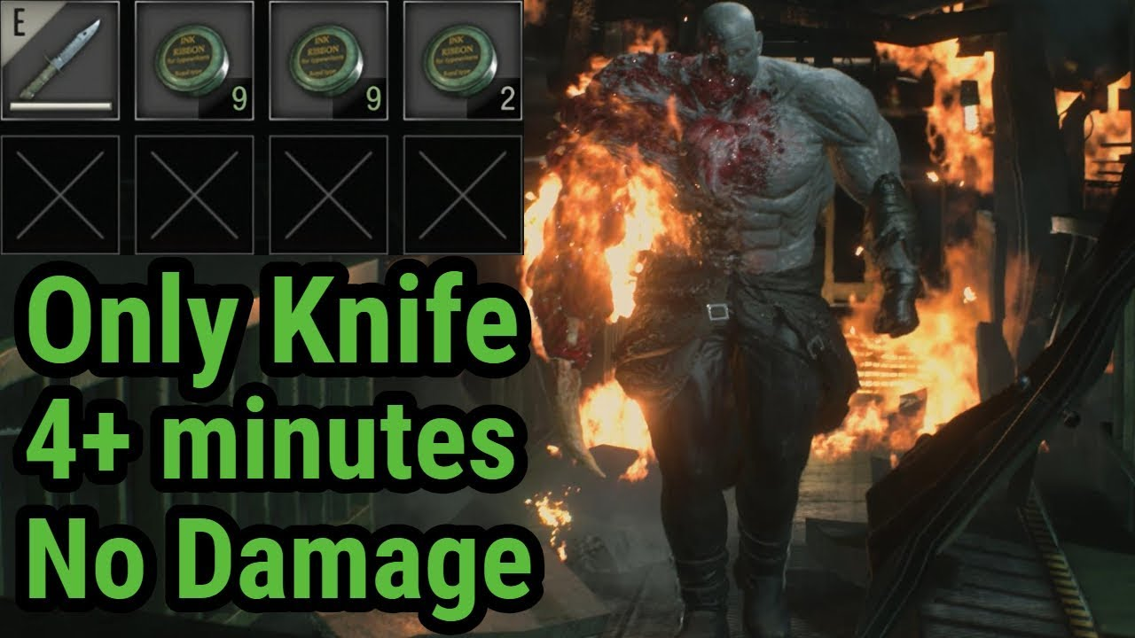 Resident Evil 2 Super Tyrant Hardcore Only Knife Surviving No Damage