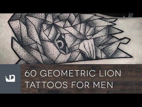60 Geometric Lion Tattoos Tattoos For Men