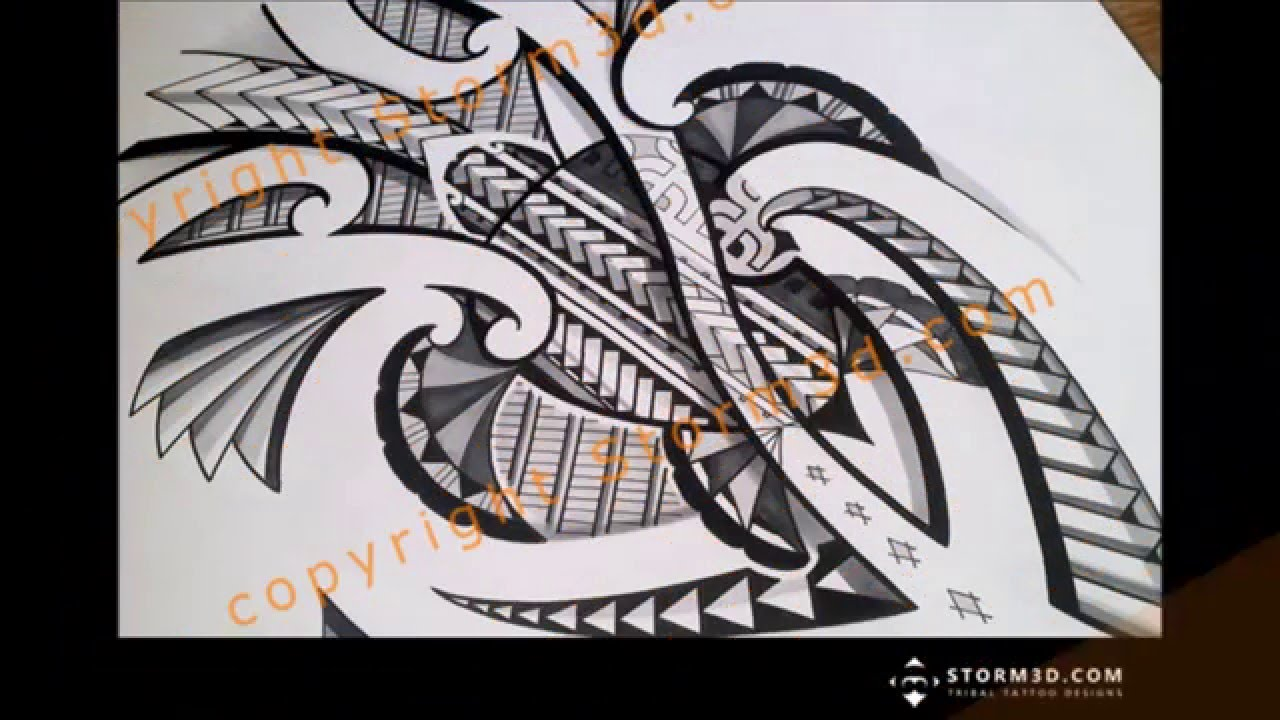 Drawing A Turtle Tattoo Design In Polynesian Style Youtube
