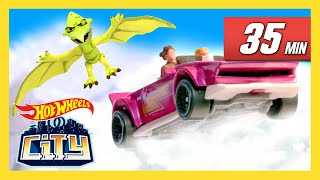 SAVING HOT WHEELS CITY FROM GIANT DINOS! | Hot Wheels City | Hot Wheels