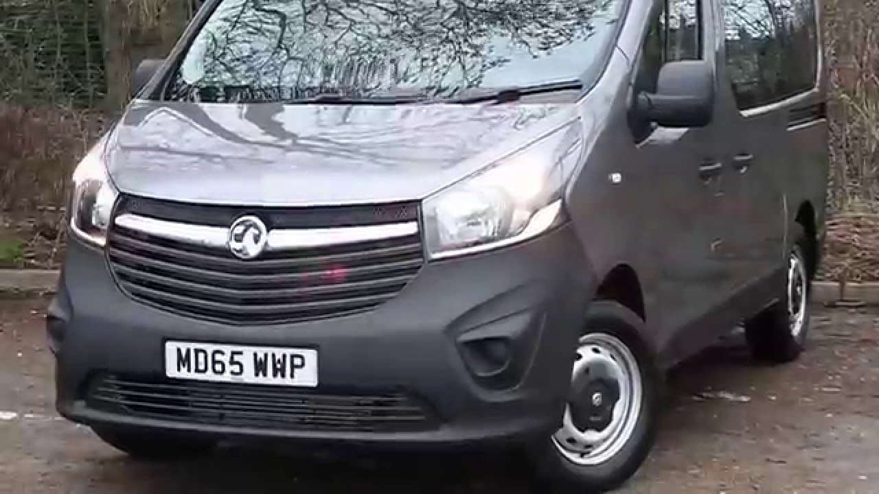 3aca8baa0a 2016 65 Vauxhall Vivaro 1.6 CDTi 90ps L1 H1 Combi 2900 9 Seats In Grey
