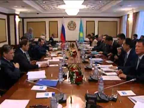 May 29, 2012 Kazakhstan_Medvedev discusses bilateral issues with Kazakh prime minister