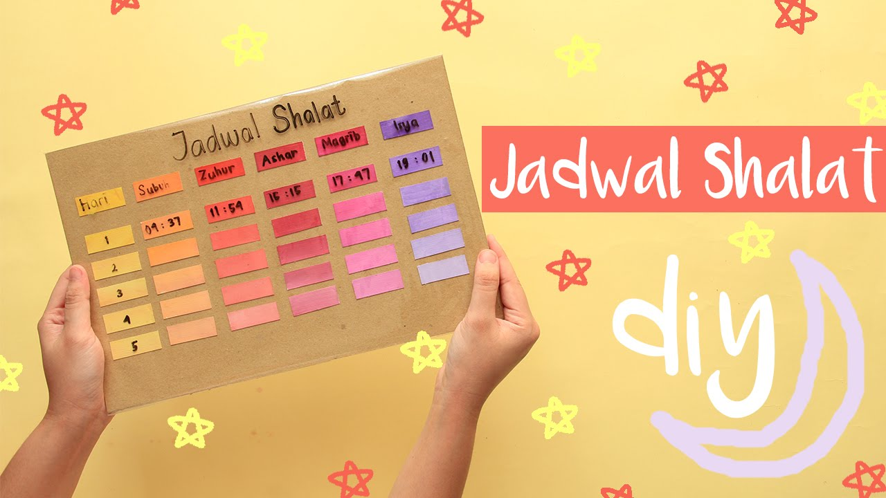 diy schedule board diy papan jadwal youtube. Black Bedroom Furniture Sets. Home Design Ideas