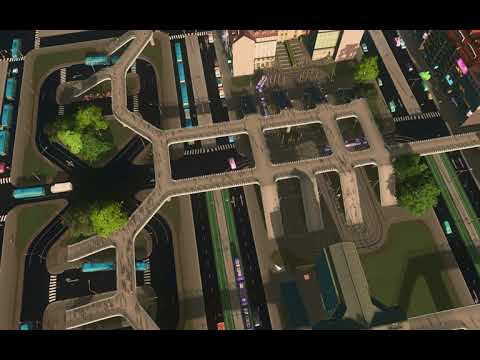 Cities Skylines - Transport Hub With 4 Buses 3 Trams
